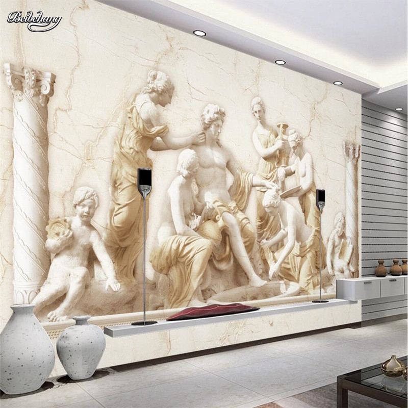 Beibehang Large Wallpaper Mural Custom Any Size Three: Beibehang Custom Photo Wallpaper Roman Relief / European