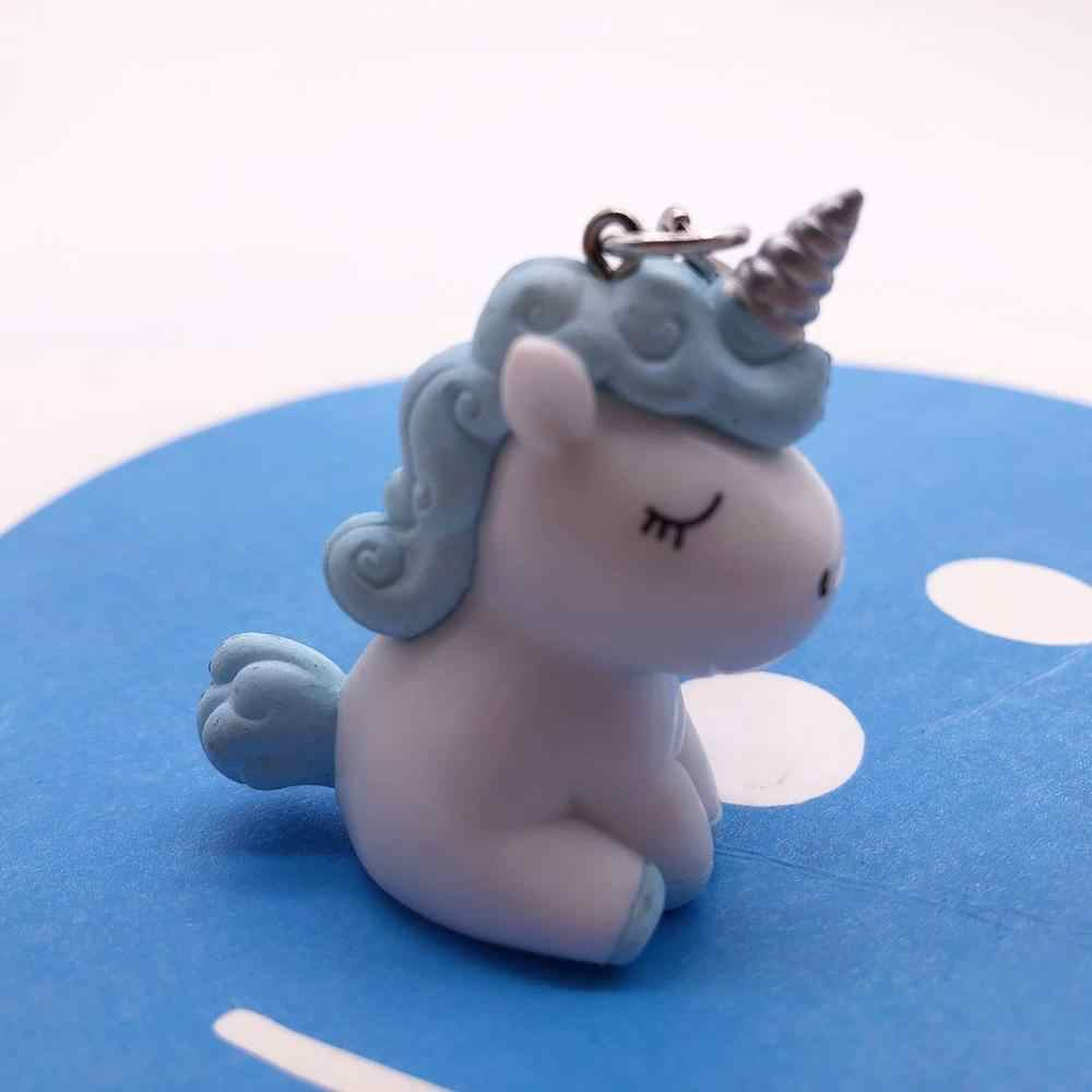 2019 ขายร้อนน่ารัก Unicorn พวงกุญแจสัตว์ PVC พวงกุญแจผู้หญิงกระเป๋า Charm กุญแจจี้ของขวัญคุณภาพสูง