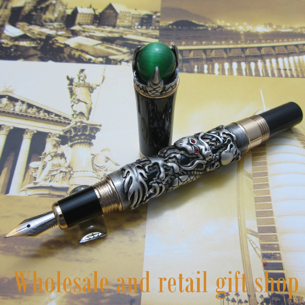 fountain pen Jinhao J700 dragon king play pearl metal pen beautiful retro culture gift ink pen jinhao a200 chinese double dragons playing with the pearl beautiful advanced roller ball pen