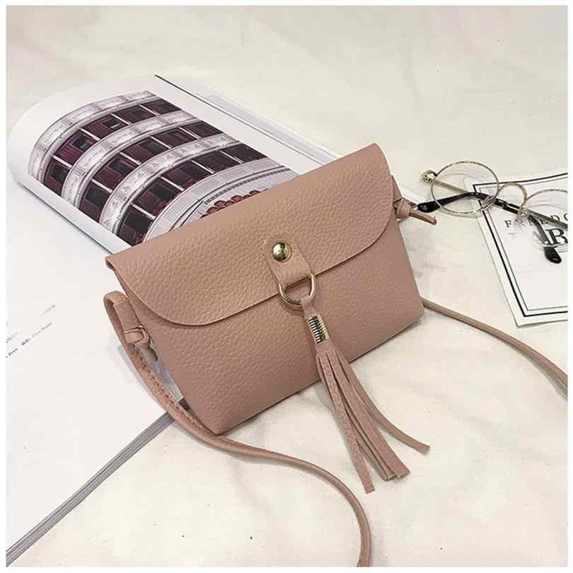 Moda Capaz Mini Saco Bolsa Feminina de Couro PU Bolsa Do Vintage saco Pequeno Mensageiro Borla Sacos de Ombro de Alta Qualidade 2018 10Jun 11