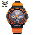 SMAEL Outdoor Sports Watches Men Electronic Digital Analog Shockproof Silicone Watch Waterproof Quartz  Wristwatches for Mens