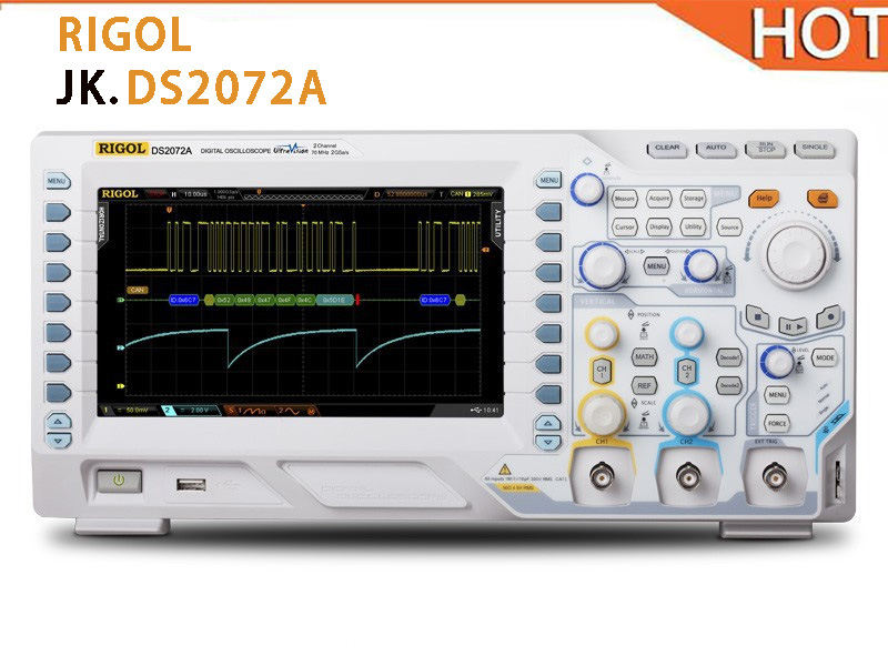 2018 HOT RIGOL oscilloscope DS2072A 70MHz Digital 2G Sa/s Max. Sample Rate DS2072A RIGOL 2 analog channels 8 inch WVGA display baraf s 2g