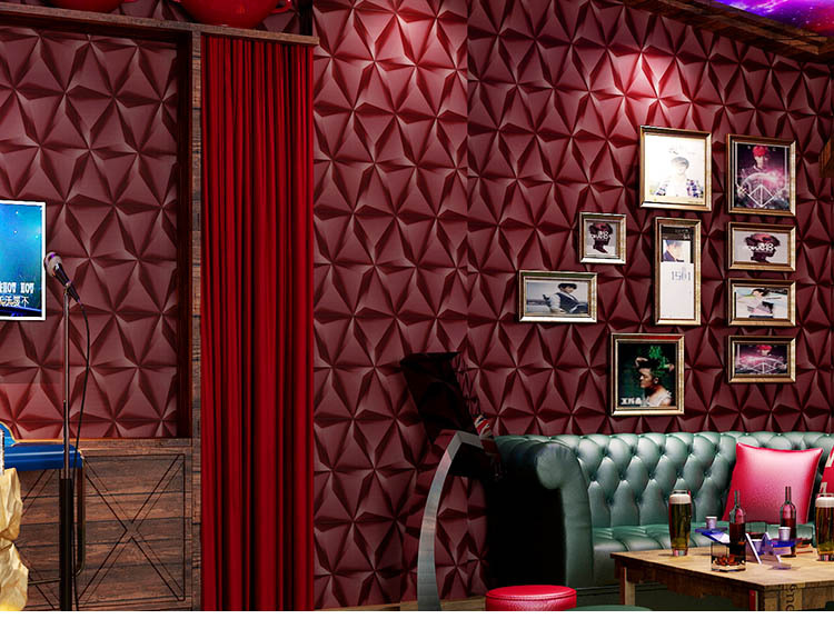 European Rhombus Wallpaper Roll For Walls 3D Modern Luxury Wall Paper For Ceiling Hotel Living Room Bedroom KTV Wallcoverings 3d wallpaper ceiling custom photo wall paper cool and refreshing summer fruit bedroom ktv hotel bar living room