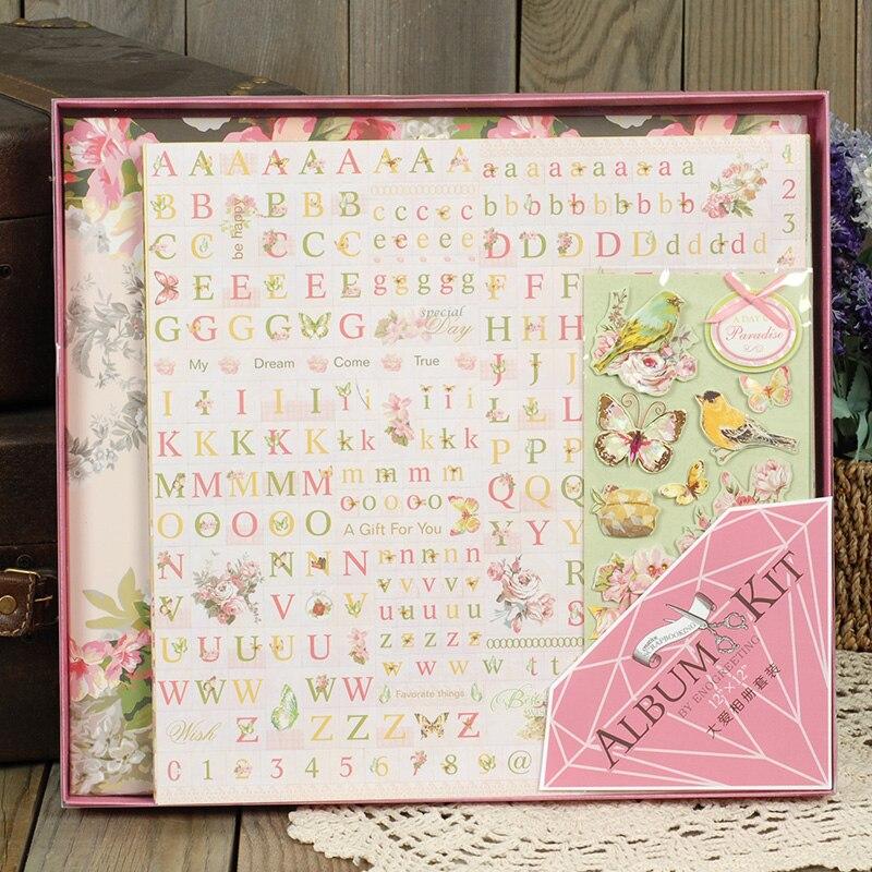 Luxury Photo Album: Eno Greeting Luxury Scrapbook Album Kit Birthday Photo