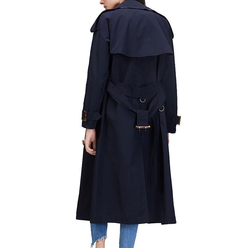 Double Navyblue Coréenne Green Tournent Le Vert Vers Coat Breasted 2017 Lâche Dames Taille Outwear Plus D'armée Trench Femmes army Nouveau Bas Automne De rr0gBxRq