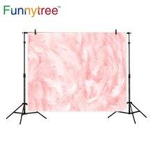 Funnytree backdrop para estúdio fotográfico flamingos cor de rosa pena de banho do bebê Macia profissional fundo photobooth impresso