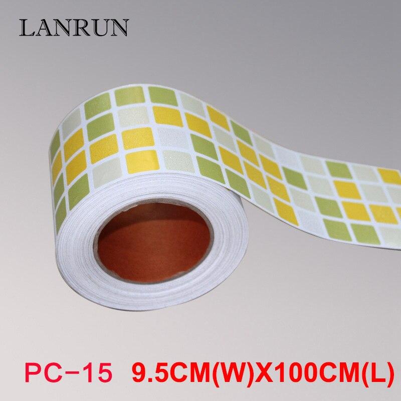 5M Waist Line Wall Sticker Köksvrist Linje Lim Toalett Badrum - Heminredning - Foto 4