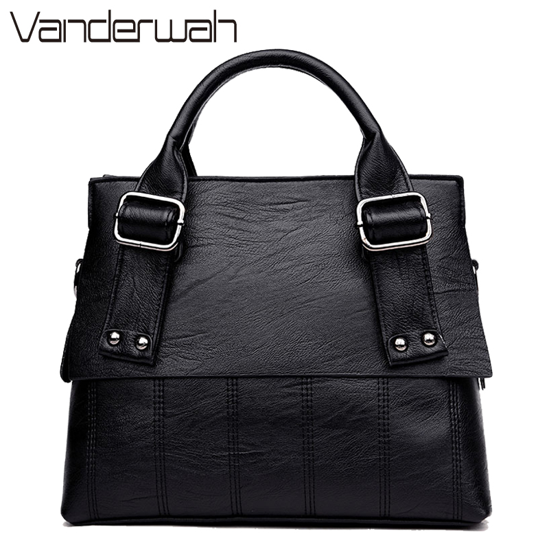 Leather Bags Handbags Women Famous Brands Fashion Casual Bags Tote Fashion Soft women messenger Shoulder Bag Ladies sac a main 2017 new fashion female handbags famous brands sac women messenger bags women s pouch bolsas purse bag ladies leather portfolio
