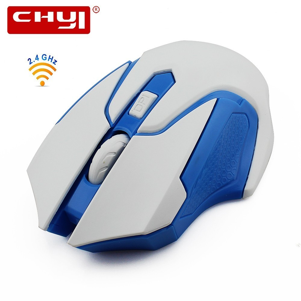 CHYI Wireless Gaming Computer Mouse Optical Mini Portable Usb Gamer Mause 1600DPI Ergonomic Cheap 3d PC Game Mice For Laptop Mac image