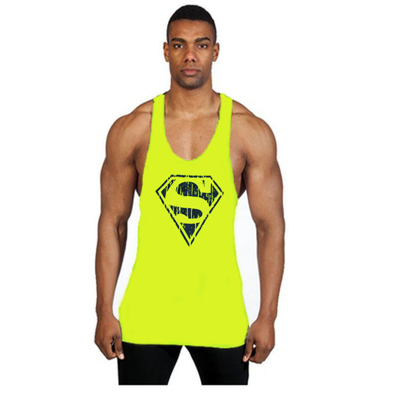625d34bba698e 2018 Brand Gyms Singlets Men Tank Top Stringer Bodybuilding Fitness Men s  Vests Clothes Golds Superman Tanks Tops Men Clothing