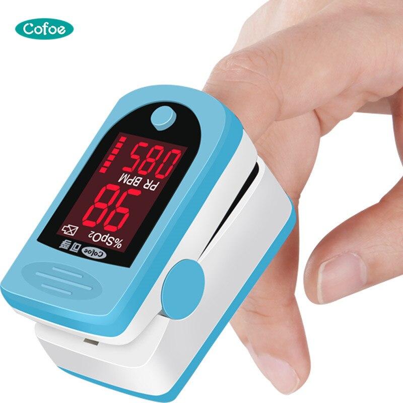Cofoe Dedo Oxímetro de pulso Dedo de la sangre Medidor de oxígeno - Cuidado de la salud