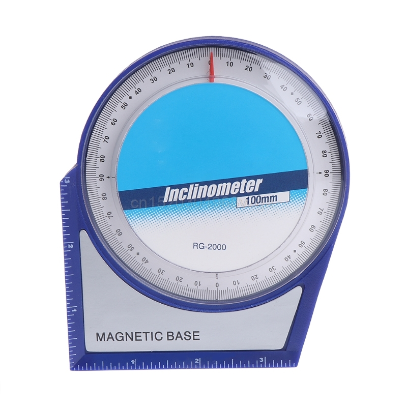 100mm Inclinometer Protractor Tilt Level Meter Angle Finder <font><b>Clinometer</b></font> Magnetic Analog Inclinometer J12 dropshipping