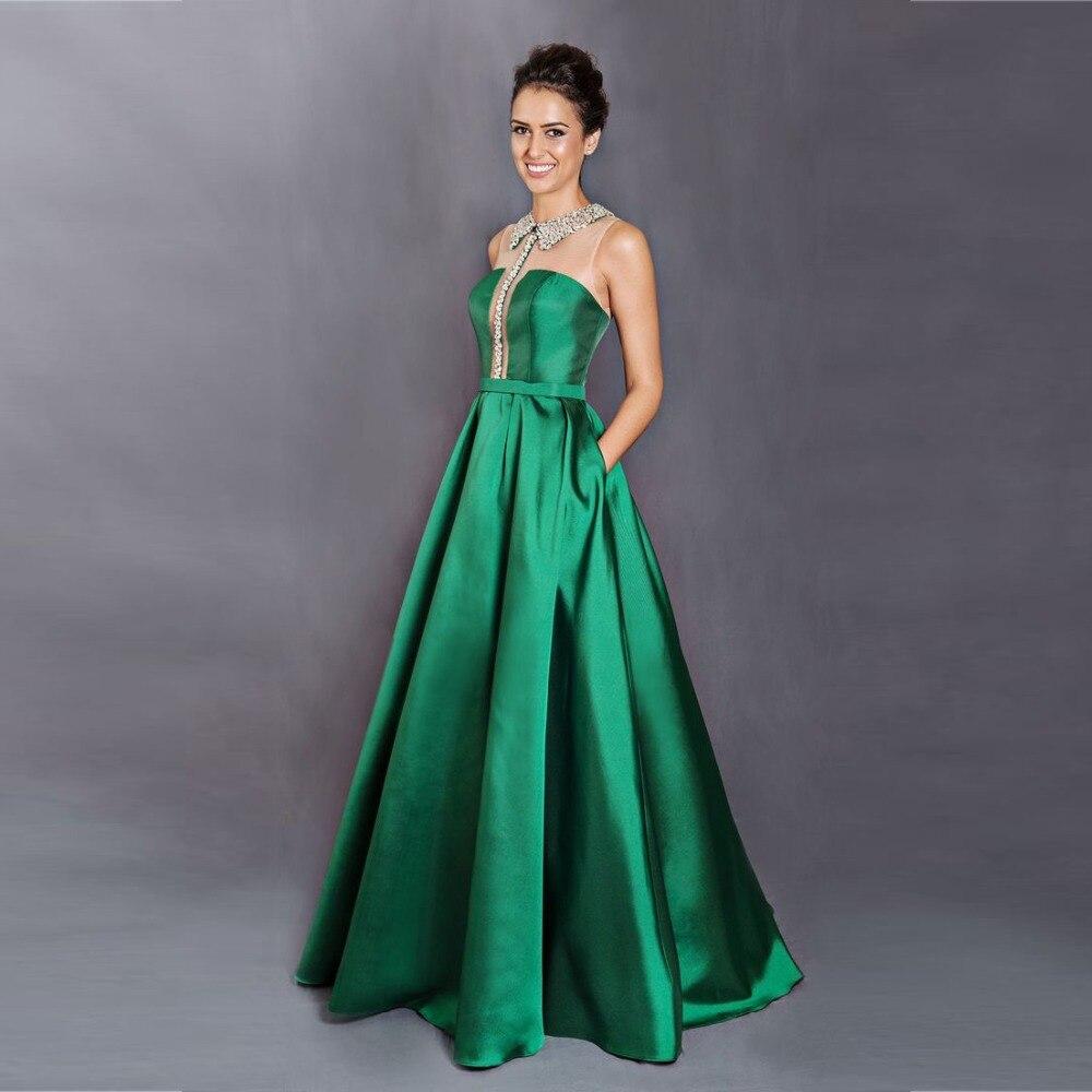 Vestidos largos verdes 2016