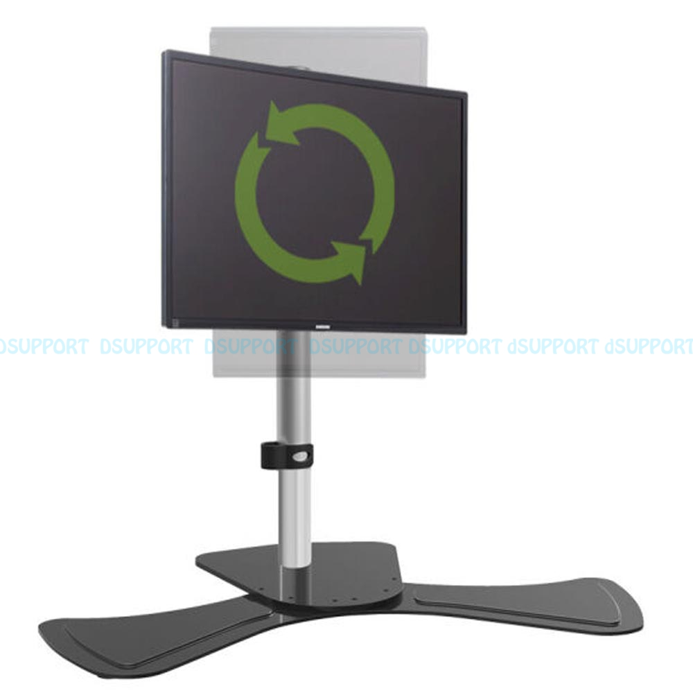 15-27 LCD LED Lift Rotary Monitor Holder Arm Full Motion Computer Desktop Stand Bracket Loading 8kgs full motion lcd monitor holder computer display mount bracket fit for w o vesa display aoe apple samsung all in one computer