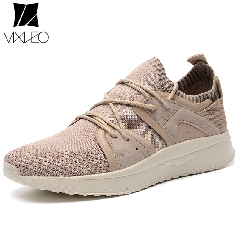 VIXLEO Outdoor men Sneakers 2018 Breathable Mesh Sport Shoes male Running Shoe Socks zapatillas deporte mujer Spring Summer