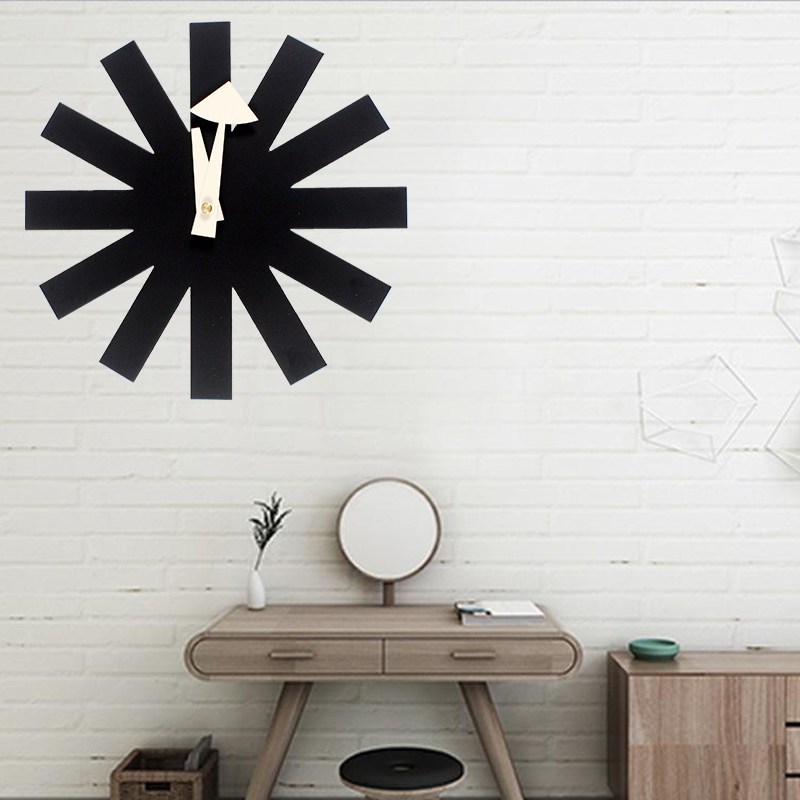 3D hot sales designers digital wall clocks sticker Black clock Asterisk Clock modern design Designer wall clock kitchen