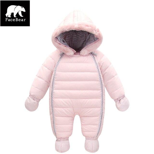 Orangemom зима мальчик snowsuit 90% утка вниз детские зимние куртки водонепроницаемый толстый комбинезон для детей куртка 6-24 М детские