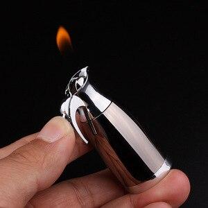 Image 4 - Новинка 2018, креативная компактная струйная Бутановая Зажигалка, зажигалка для чайника, столовая, аксессуары для сигарет без газа