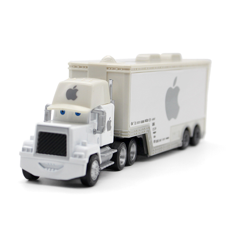 "Pixar Automobiles Mack Uncle Truck ""White Apple"" Metallic Diecast Toy Automotive 1:43 Unfastened Model New Truck mixture Mannequin truck for youngsters"