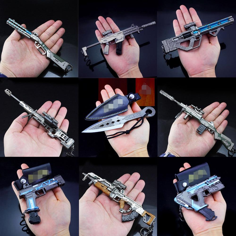 2019 New Key Chain APEX Legends Game Battle Royale Metal Gun Model Toys Alloy Keychain 20CM