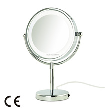 AFSEL Superior Quality 8.5″ LED Table Mirror lighted Cosmetic Makeup Mirror Double Sided 5x Magnification Lady Mirror Beauty