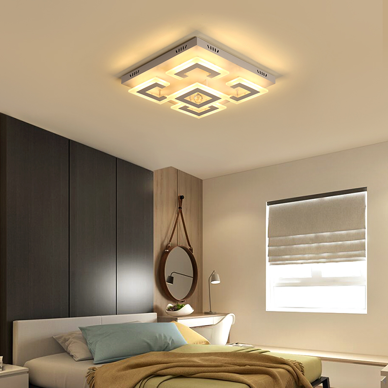 New Design Crystal Modern Led Ceiling chandelier For Living Room Bedroom lampe plafond avize Indoor led chandelier Free Shipping