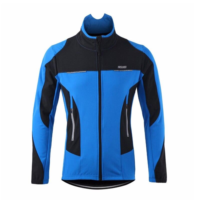 ФОТО Winter Men Thermal Cycling Jacket Winter Warm Up Bicycle Clothing Windproof Waterproof Sports Coat MTB Bike Cycling Jersey
