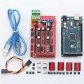 Nueva mega 2560 + ramps 1.4 controlador + 4 unids A4988 módulo del conductor de pasos + para 3D impresora kit para arduino reprap