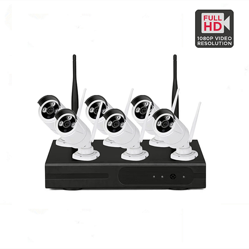 Wireless NVR Kit H.265 Cctv Wifi Security Camera System Set 1080P 2MP IR P2P Outdoor Video Surveillance Kit HDD