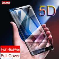 Protector de pantalla de cobertura completa curvado Real de dureza mejorada 5D para Huawei P8 P9 P10 Mate 10 Honor 8 9 V9 Lite Vidrio Templado