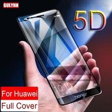 Обновленная твердость настоящая 5D изогнутая полная Защита экрана для huawei P8 P9 P10 mate 10 Honor 8 9 V9 Lite закаленное стекло
