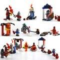 Venda de afastamento blocos de construção nexus futuros cavaleiros castelo cavaleiro guerreiro axl macy arron lance de argila bloco de tijolos de brinquedo