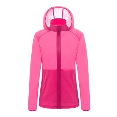 Кожаная одежда для женщин, Ультралегкая спортивная куртка, летняя Солнцезащитная одежда с защитой от ультрафиолета, верхняя одежда, новые куртки с капюшоном для бега и бега, женские куртки - Цвет: 6006 mh