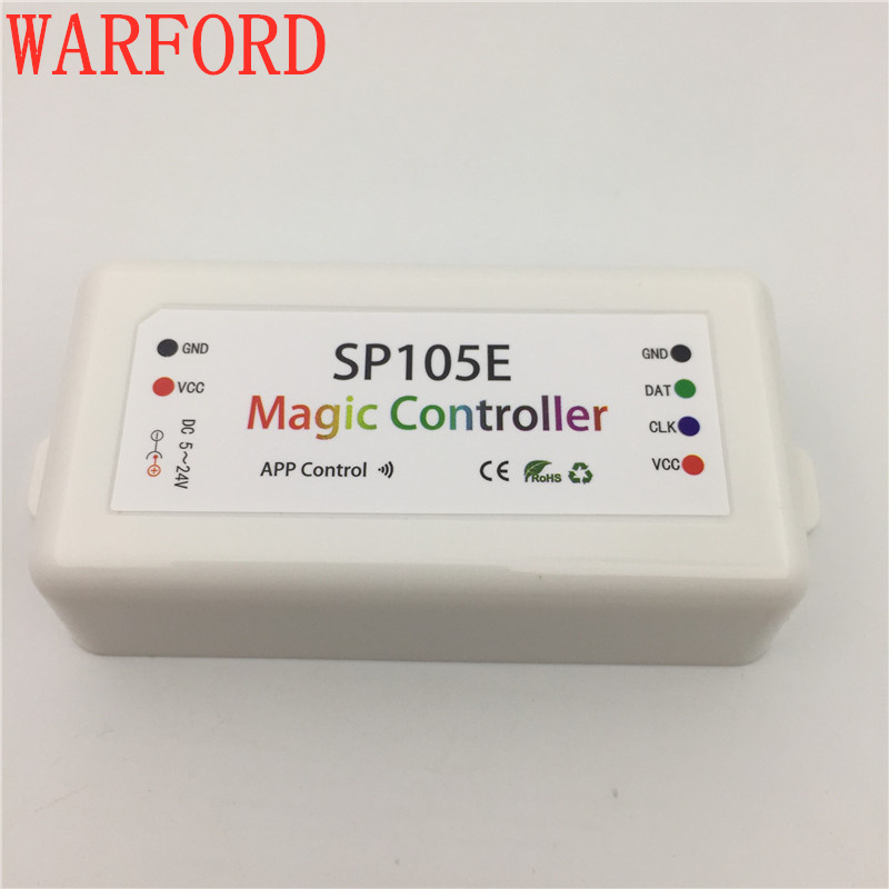DC5-24V SP105E SP108E Magie Controller Bluetooth 2048 Pixel für WS2811 2812 2801 6803 IC LED Streifen Unterstützung IOS/Android APP