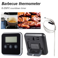 Digital Lcd Display Probe Timer Kitchen Tools Temperature BBQ Cooking Meat Hot Water Measure Probe Digital Food Thermometer