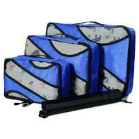 QIUYIN bolsas de viaje de gran capacidad equipaje de mano ropa de clasificación 3 unids/set cubos de embalaje de nailon Set organizador de bolsas de viaje