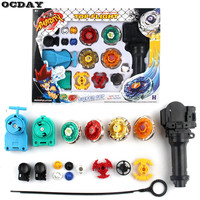1Set Beyblade 4D Fusion Top Metal Master Rapidity Fight Rare Beyblade Launcher Grip Set Kids Game