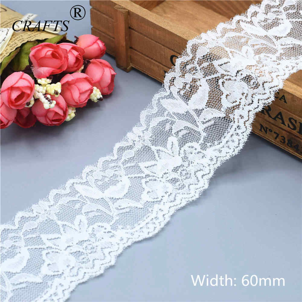 Beautiful 10Yard 30MM Stretch Lace Embroidered Ribbon For Clothing Wedding Decor