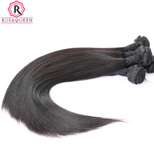 Brazilian Virgin Hair Straight 100% Human Hair Weave Bundles Natural Black Color 1 Piece Rosa Queen Hair Products