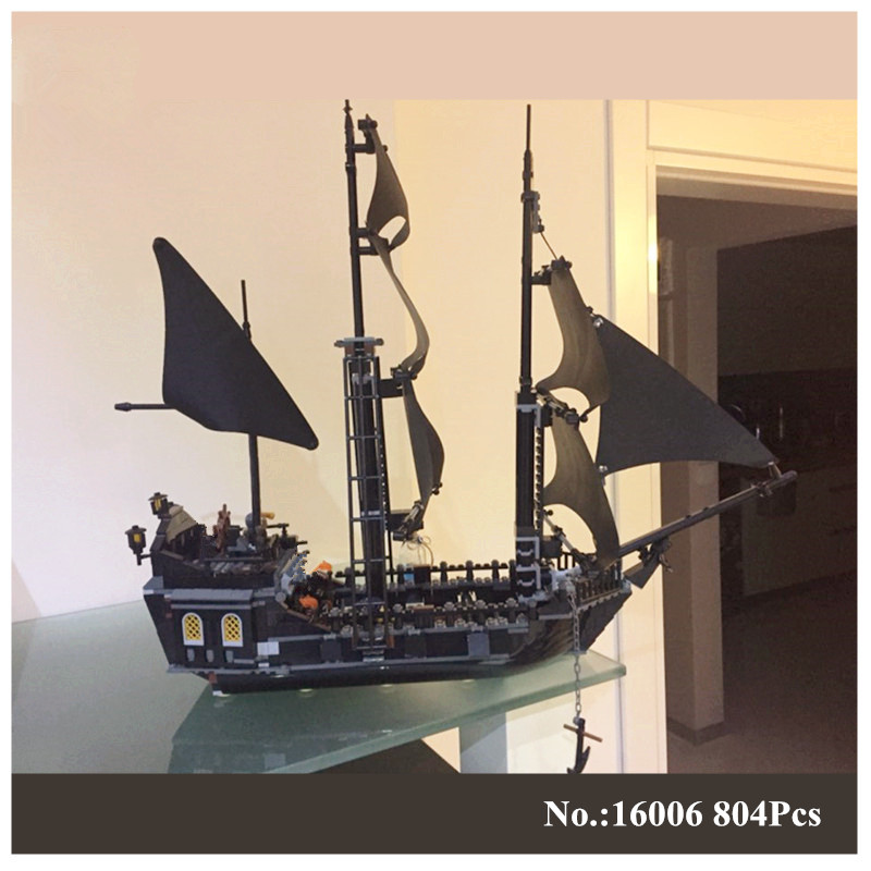 H&HXY 804Pcs 16006 Pirates Of The Caribbean The Black Pearl Ship LEPIN Model Building Kit Blocks BricksToy Compatible 4184 lepin 16006 804pcs pirates of the caribbean black pearl building blocks bricks set the figures compatible with lifee toys gift
