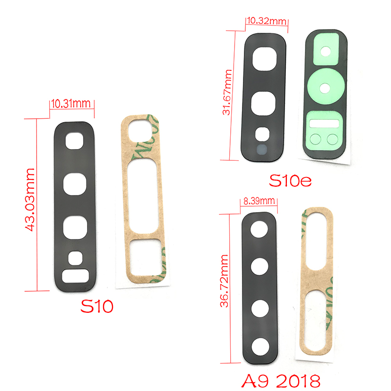 Rear Camera Glass Lens Cover With Frame Holder with Sticker Replacement Spare Parts For Samsung S10 S10e A6 J8 A7 A750 A9 2018 image