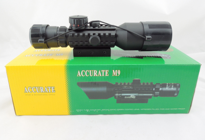Good quality M9C 3-10X42E Mil-Dot hunting rifle scope+red laser /Tactical Optics Scopes/Riflescope free shipping compact m7 4x30 rifle scope red green mil dot reticle with side attached red laser sight tactical optics scopes riflescope