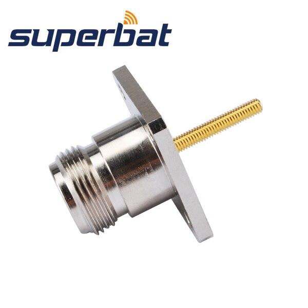 imágenes para Superbat RF Coaxial N Jack Hembra de montaje en panel con Junta Tórica mamparo conector para antena de fibra de vidrio