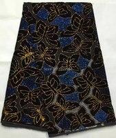 5yards Lot AVL7913 1 New Pattern Silk Velvet Fabric African Velvet Fabric Good Quality Nigerian