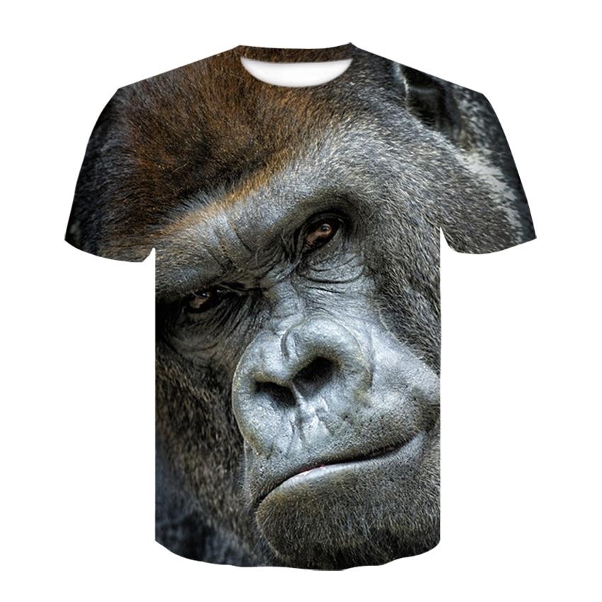 2019 Devin Du summer Men's animal T-Shirt orangutan/gas monkey/Wolf 3D Printed T-Shirts Men Funny tees tops tee shirt