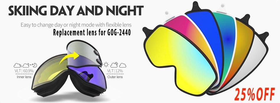 8171eebb458 COPOZZ 2 in 1 Ski Goggles with Original Case Double Lenses for Night Skiing  Anti-fog UV400 Snowboard Goggles for Men   Women