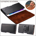 4.0-6.3 inch Universal Belt Clip Bag Genuine Leather Pouch Men Magnet Holster for SAMSUNG/iPhone/Xiaomi Wallet Phone Case Cover