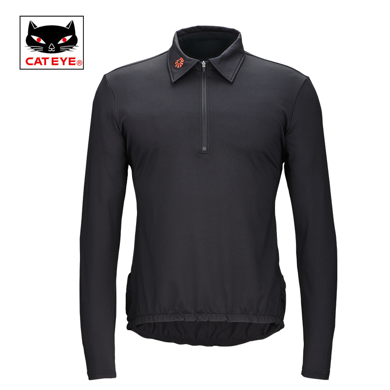 Cateye Cycling Jersey POLO Bicycle Warm Autumn Windproof Quick Dry Sportswear Breathable Runing Tracksuit Coat Riding Equipment