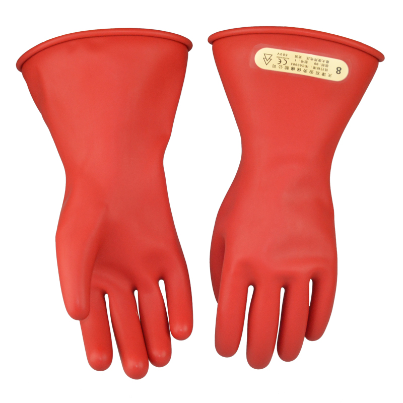 Купить с кэшбэком Free shipping 31cm length 2.5KV insulated latex working gloves using for transmission line /pole line & electric power industry