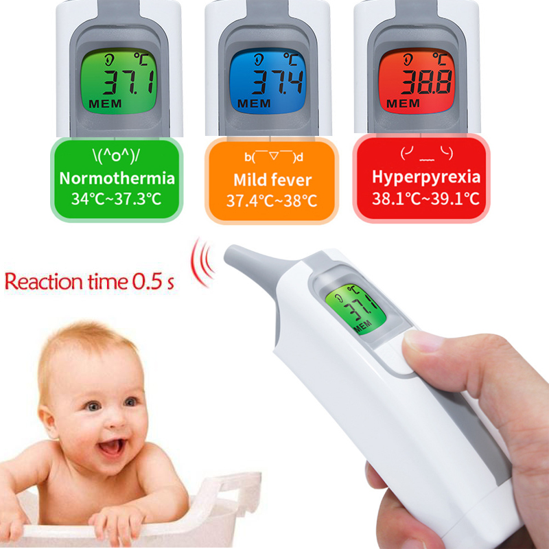 Medical Ear Infrared Thermometer Adult Baby Baby Thermometer Infrared Non Contact Fever Temperature Measurement High Accurate FaMedical Ear Infrared Thermometer Adult Baby Baby Thermometer Infrared Non Contact Fever Temperature Measurement High Accurate Fa